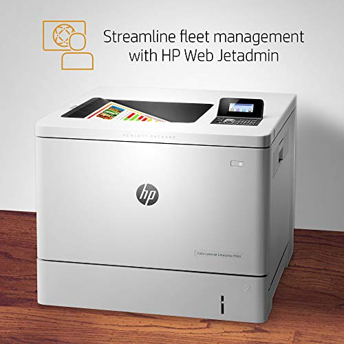HP LaserJet Enterprise M553n Color Laser Printer with Built-in Ethernet (B5L24A) , White , 18.9 x 18 x 15.7 inches
