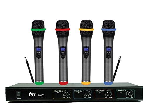 Proslogan IV-4031VHF 4-Channel Wireless Microphone 2017 Version 4 Handles (Version B)