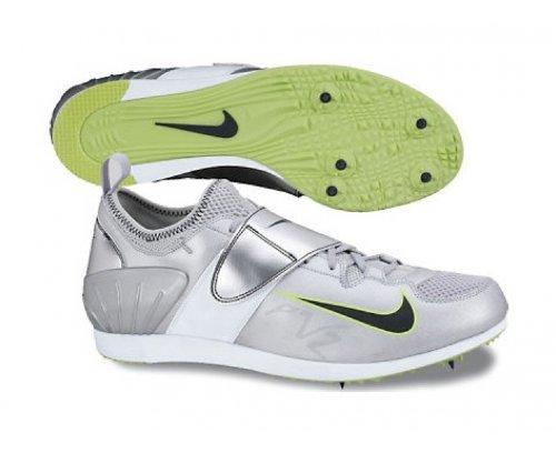 Nike Zoom PV II Pole Vault Zapatillas Correr De Clavos Plateado