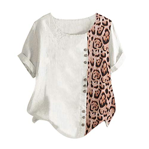 Sunhusing Ladies Sexy Leopard Print Button Single-Breasted Casual