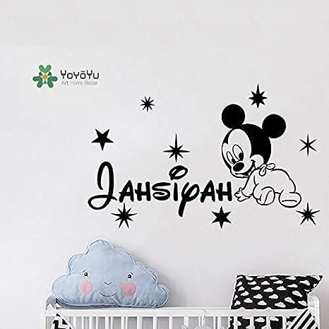 Etiqueta de la pared de dibujos animados nombre del ratón ...