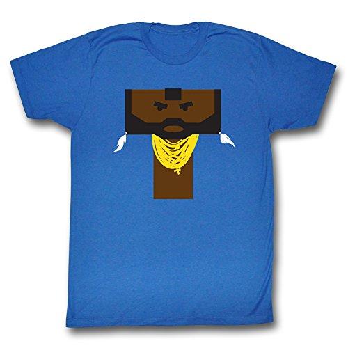 Mr. T Literal T T-shirt, Royal Blue, 2XL]()