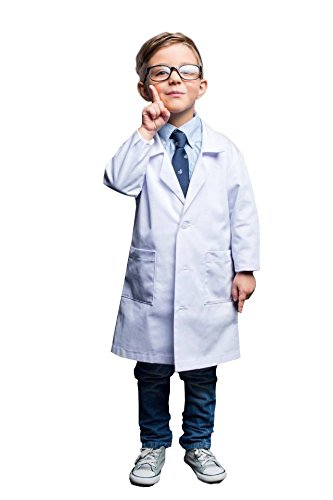Natural Uniforms Real Children's Lab Coat for School Projects Halloween Costumes (4) ()