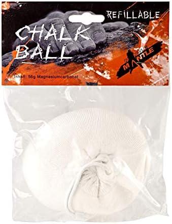 Mantle - Chalkball 56 gr. wiederbefüllbar Refill Kletterkreide als 1er oder 3er Pack Magnesia zum Klettern Bouldern