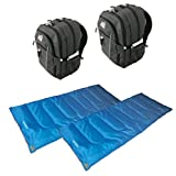 Cheap High Peak USA Alpinizmo 2 Vector 38 Backpacks + 2 Ceduna 20 Sleeping Bags Combo, Grey/Blue, One Size
