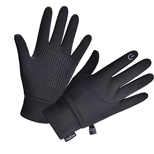 EastKing Lightweight Winter Gloves, Warm Water Resistant Touch Screen Gloves for Walking,Riding,Cycling,Running and…
