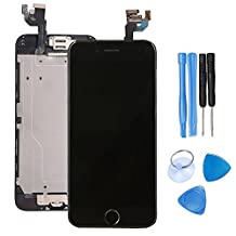LCD Display Touch Screen Digitizer Glass Lens Camera Home Button Assembly Repair Replacement iPhone 6 (4.7) inch Tools Black