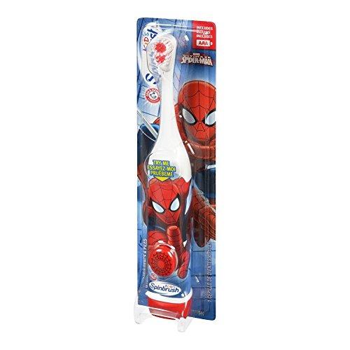 ARM & HAMMER Kid's Spinbrush Spiderman 1 Each PK8(Designs May Vary)