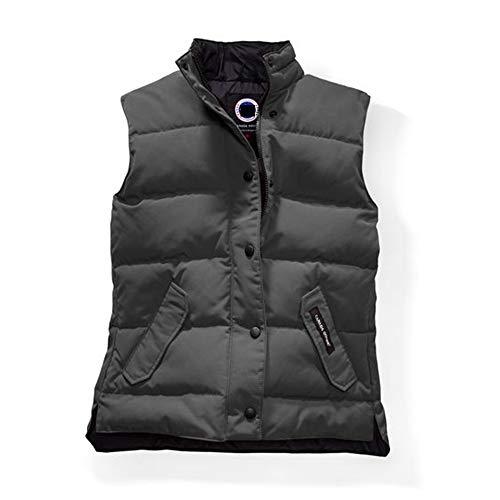- Women's Canada Freestyle Gray Duck Down Vest-(XL)