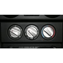 Rugged Ridge 11420.06 Billet Aluminum Climate Control Knob with Red Indicator Light - Pack of 3