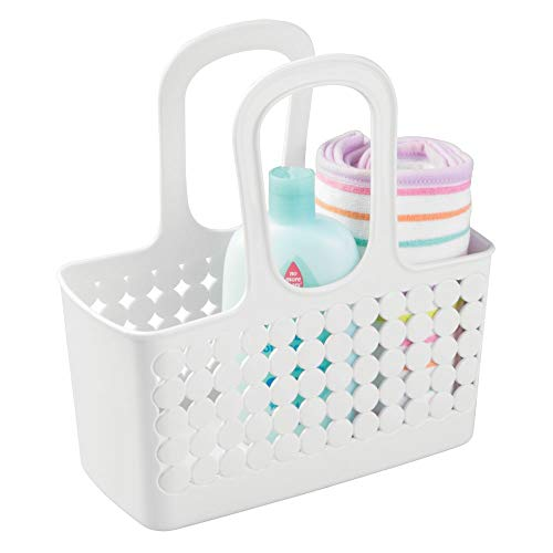 InterDesign Orbz Plastic Bathroom Shower Tote, Small College Dorm Caddy for Shampoo, Conditioner, Soap, Cosmetics, Beauty Products 11.25