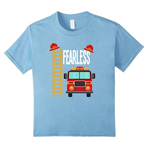 0199c6f17bd Fearless Firefighter Fire Truck Shirt For Toddlers and Kids ...