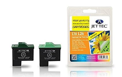 Jet Tec L16 L26 - Cartucho de Tinta para impresoras (Negro, Cian ...