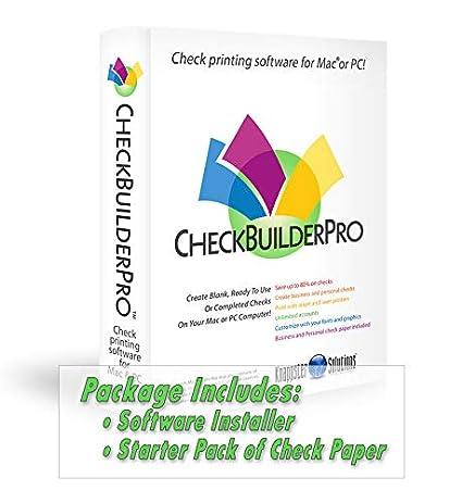 CheckBuilderPro3 - Check Printing Software for Macintosh & Windows