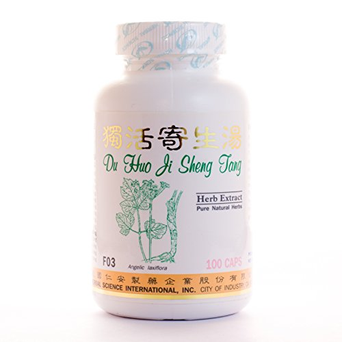 - Du Huo Joint Relief Dietary Supplement 500mg 100 capsules (Du Huo Ji Sheng Tang) F03 100% Natural Herbs