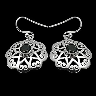 Silver Palace 925 Sterling Silver Natural Gemstone Earrings For Women And Girls