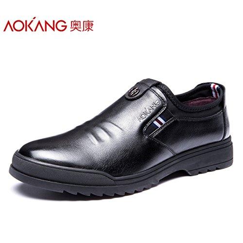 Aemember scarpe da uomo e confortevoli urbano Scarpe Casual la Gioventù Maschile di gancio messo piede Scarpe Uomo Inverno ,38, nero
