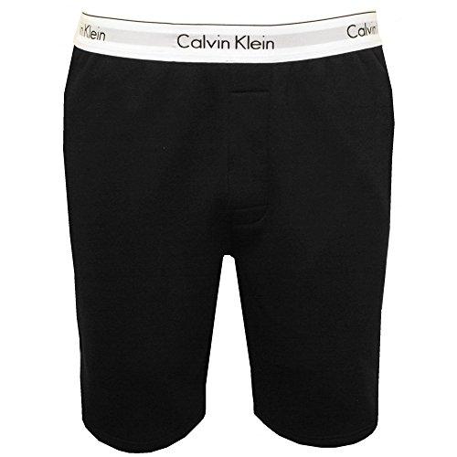 Calvin Klein Men's Classic Logo Waist Tracksuit Shorts, Black Medium Black with white waistband by Calvin Klein