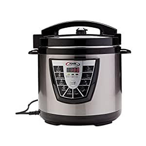 Power Pressure Cooker XL 8 Quart, Digital Non Stick Stainless Steel Steam Slow Cooker and Canner by Power Pressure Cooker XL