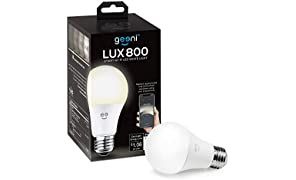 Geeni LUX 800 Smart Wi-Fi LED Dimmable White Light Bulb (2700K) – A19, 60-Watt Equivalent – No Hub Required – Works with Amazon Alexa, Google Assistant, Microsoft Cortana