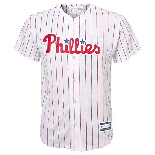 (Youth Hoskins Phillies Home Replica Jers White/Pin YM)