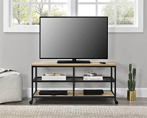 Ameriwood Home Brookspoint TV Stand for TVs up to 55 , Golden Oak