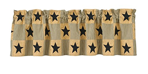 Primitive Design (Park Designs Primitive Star Lined Valance, 60 by 14