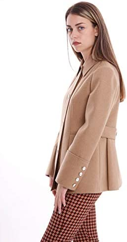 Fay Caban Beige in Lana E Cashmere, Donna.