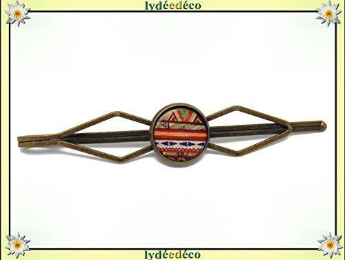 1 alfiler corbata traje resina África naranja verde marrón blanco ...