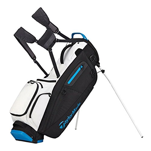 TaylorMade Golf Flextech Stand Bag White/Black/Blue (White/Black/Blue) For Sale