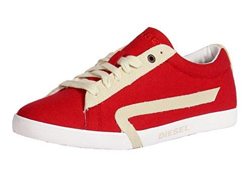 - Diesel Men's Casual Shoes Bikkren Lace up Sport Fashion Sneakers (10 US / 43 EUR / 28 cm, Fiery Red/Sandshell)