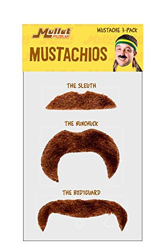 Mullet On The Go Mustachio 3-Pack -