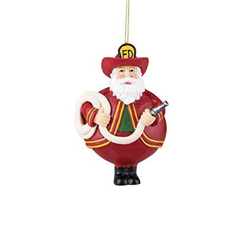 Gallery II Santa Fireman Painted Christmas Tree Ornament