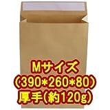 宅配袋・角底袋・紙袋 Mサイズ(390*260*80) 厚手(約120g) 60枚入