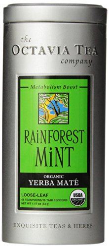 Yerba Mate Mint (Octavia Tea Rainforest Mint (Organic Herbal Tea / Yerba Mate) Loose Tea, 1.17 Ounce Tin)