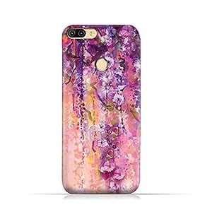 AMC Design Infinix Hot 6 X606 TPU Silicone Protective Case with Artistic Purple Flowers Design