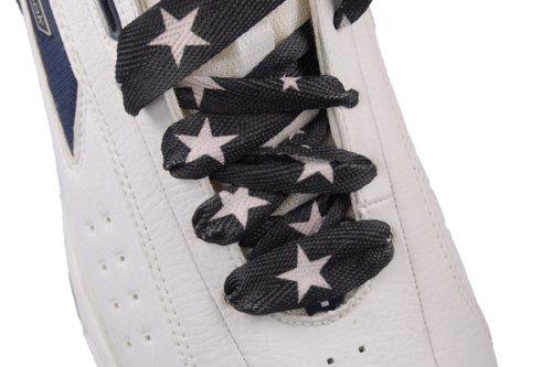 Eyelets Sneakers Shoelace Fashion Flat Shoelaces Black//white Star 6 Pr