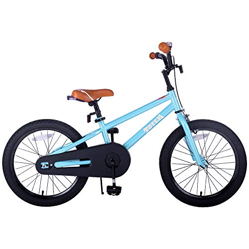 JOYSTAR Kids Bike for 5 6 7 8 Years Old Boys, 18 Inch Child Bicycle with Kickstand, Blue