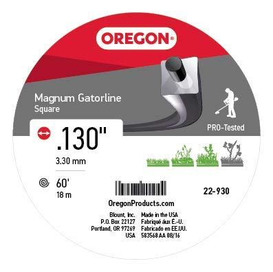 Oregon 22-930 Gatorline Heavy-Duty Professional Magnum 1/2-Pound Coil of .130-Inch-by-60-Foot Square-Shaped String Trimmer Line