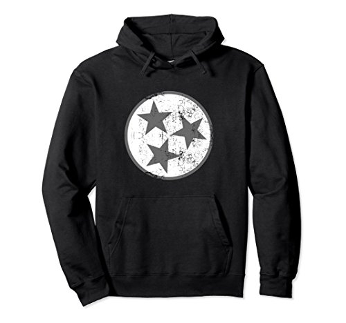 State Flag Sweatshirt (Unisex Tennessee Flag Hoodie Distressed TN State Hooded Sweatshirt 2XL Black)