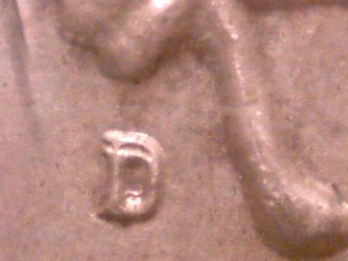 Major Mint Error on Uncirculated 1964-D Kennedy Silver Half Dollar -- Double Mintmark! Very (Dollar Error Coin)