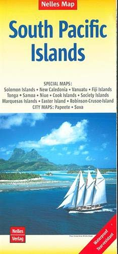 South Pacific Islands Nelles Map 1:13M (Waterproof) (English, French and German - South Islands Pacific