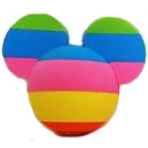 Disney Mickey Mouse Rainbow Icon - Car Antenna Topper + Yellow Smiley Antenna (Disney Antenna Topper Ball)