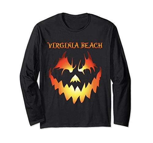 Virginia Beach Jack O' Lantern Halloween Long Sleeve Shirt