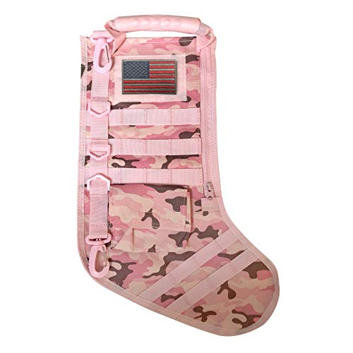 Tactical Christmas Stocking with Molle Gear (Pink) ()