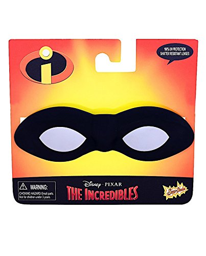 SunStache Disney The Incredibles Sunglasses Mask (Black) (Mr Incredible Adult Costume)