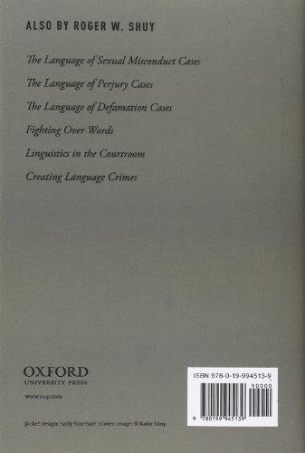 The Language of Bribery Cases (Oxford Studies in Language and Law)