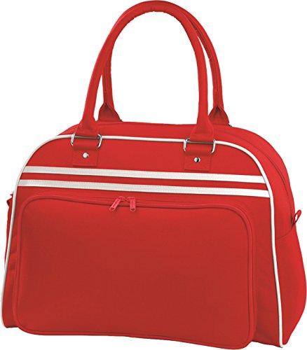 Bowling Bag Retro Red Bagbase White Classic fq05nwO