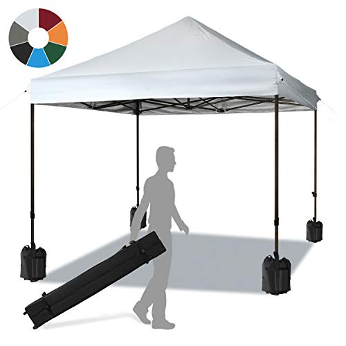 KITADIN Pop up Canopy Tent Commercial Instant Shelter Beach Party Outdoor Gazebo with Wheeled Ca ...