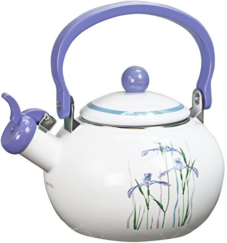 Corelle Coordinates by Reston Lloyd Harmonic Hum Alert Whistling Teakettle with Fold Down Handle, 2-Quart, Shadow Iris by Reston Lloyd (Image #3)
